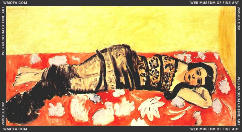 Lorette Reclining (with Shawl) 1918 by Matisse, Henri