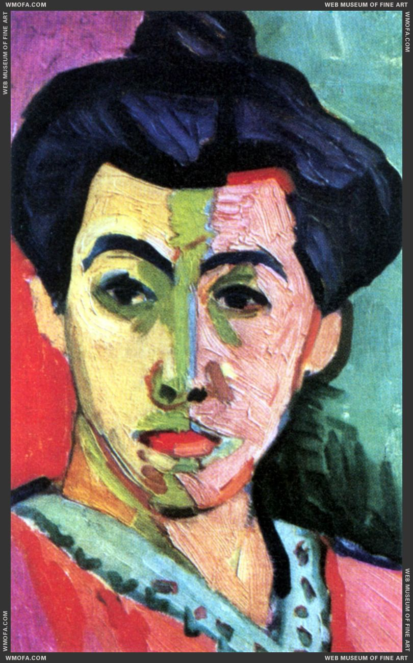 Madame Matisse, The Green Line (La Raie verte) by Matisse, Henri