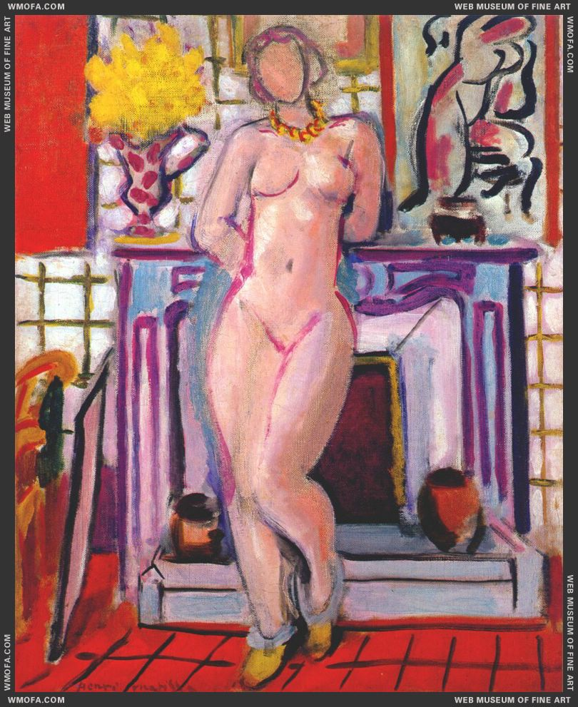 Nude Standing by the Mantelpiece 1936 by Matisse, Henri