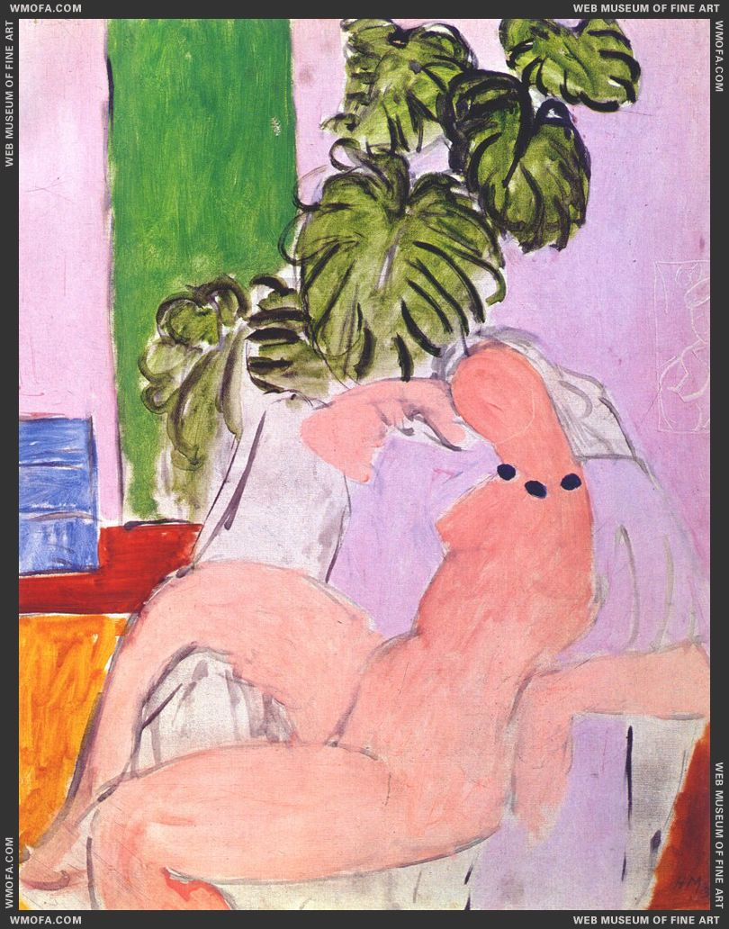 Nude in Armchair and Foliage 1936-7 by Matisse, Henri