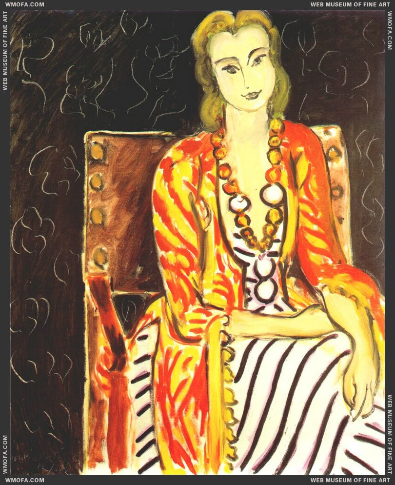 Persian Robe and Large Amber Necklace 1942 by Matisse, Henri