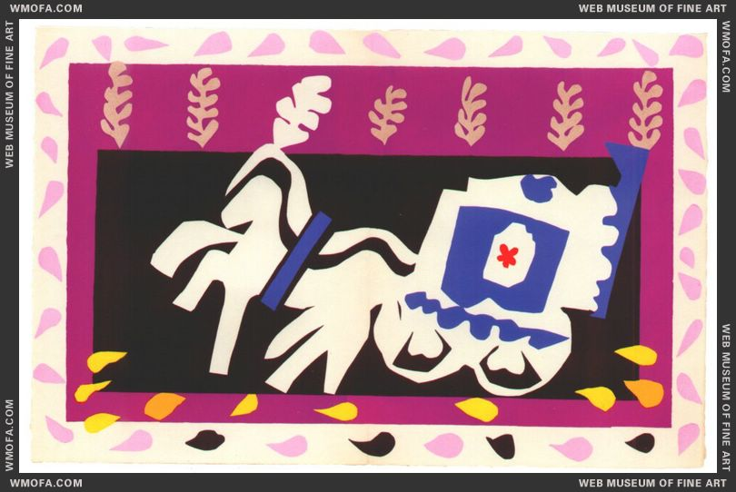 Pierrot's Funeral (Jazz Plate X) by Matisse, Henri
