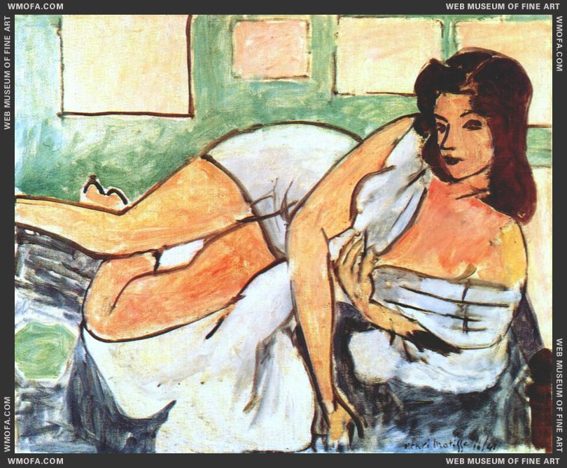 Reclining Nude in Arab Robe 1941 by Matisse, Henri