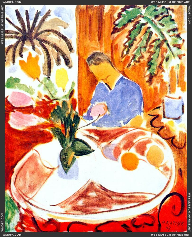 Small Interior with Round Marble Table 1947 by Matisse, Henri