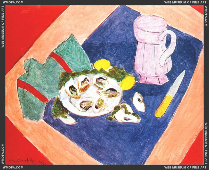 Still Life with Oysters 1940 by Matisse, Henri