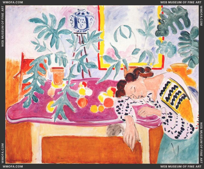 Still Life with Sleeping Woman 1940 by Matisse, Henri