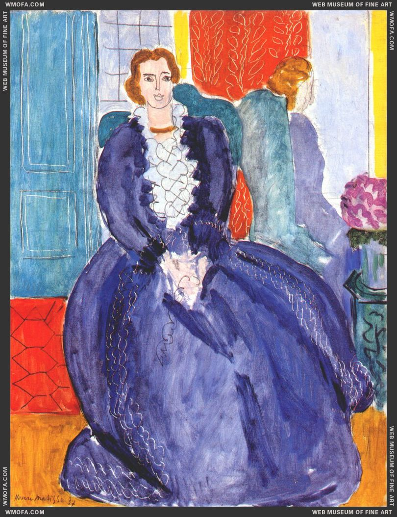 The Blue Dress Reflected in the Mirror 1937 by Matisse, Henri