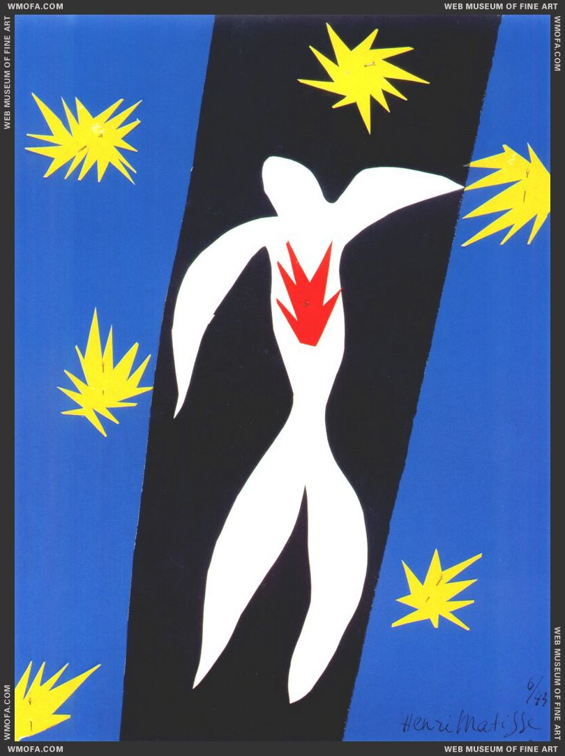 The Fall of Icarus 1943 by Matisse, Henri