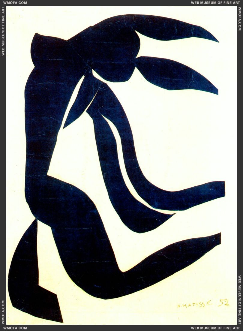 The Flowing Hair 1952 by Matisse, Henri