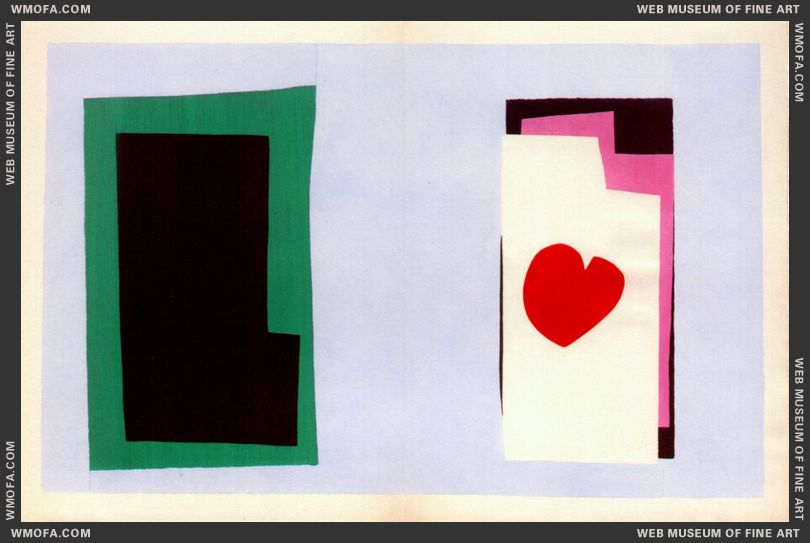 The Heart (Jazz Plate VII) by Matisse, Henri