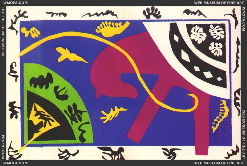 The Horse the Rider and the Clown (Jazz Plate V) by Matisse, Henri