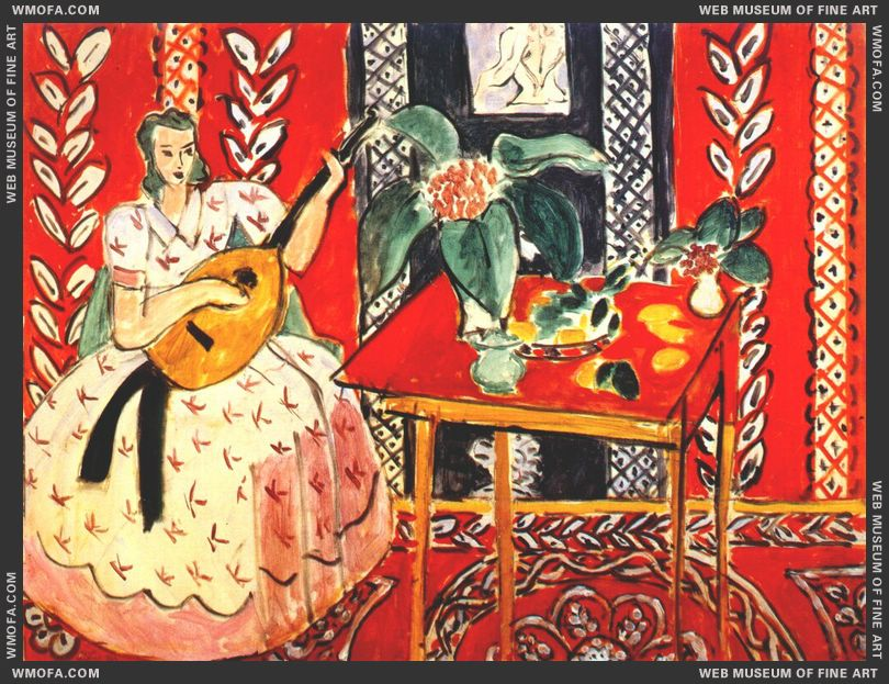 The Lute 1943 by Matisse, Henri