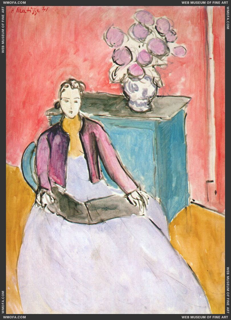 The Mauve Bolero 1940 by Matisse, Henri