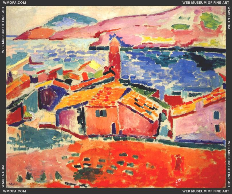 The Roofs of Collioure 1905 by Matisse, Henri
