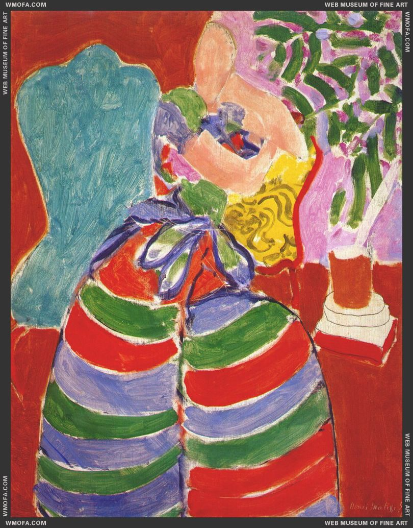 The Striped Dress 1938 by Matisse, Henri