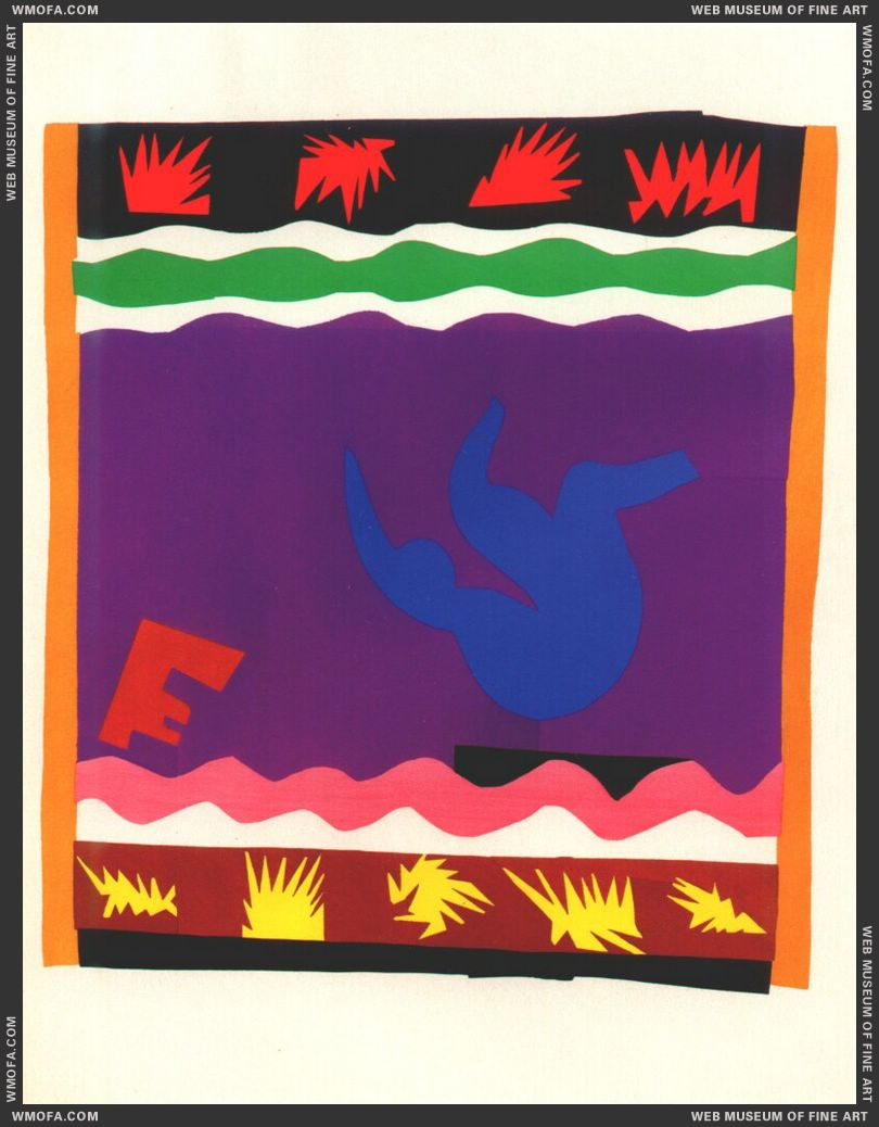 The Toboggan (Jazz Plate XX) by Matisse, Henri