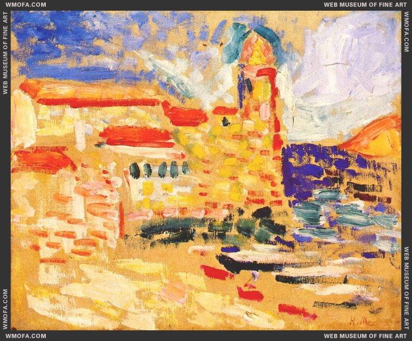 View of Collioure (The Bell Tower) 1905 by Matisse, Henri