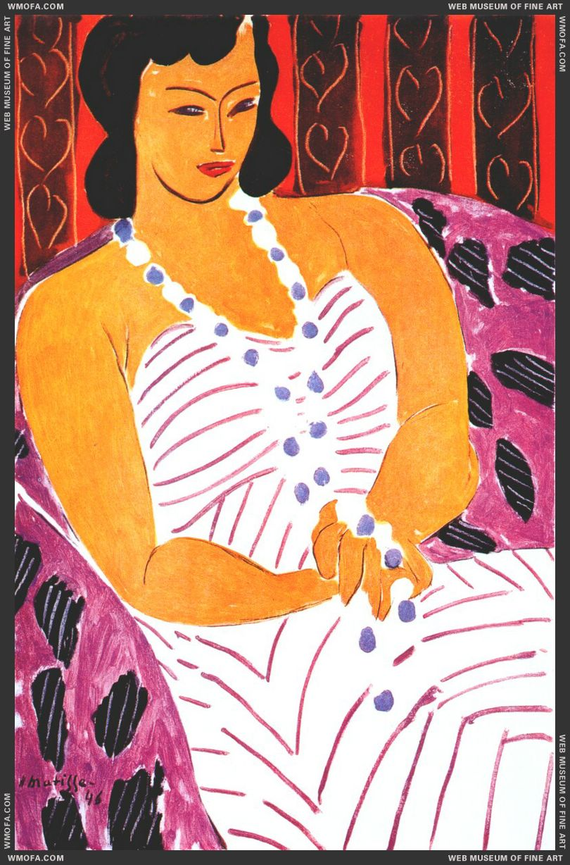 Woman in a White Dress 1946 by Matisse, Henri