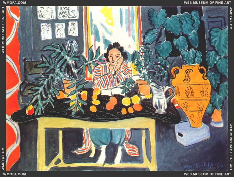Woman with Etruscan Vase 1940 by Matisse, Henri