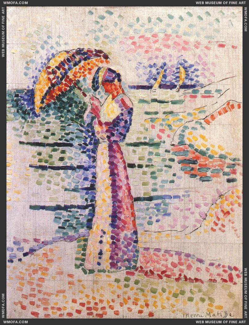 Young Woman with Parasol 1905 by Matisse, Henri