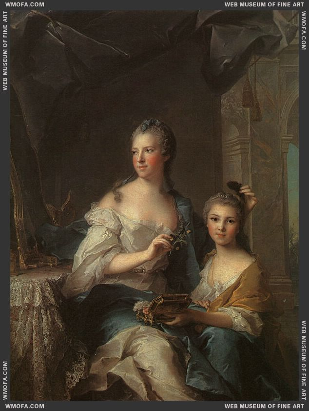 Madame Marsollier and her Daughter 1749 by Nattier, Jean-Marc