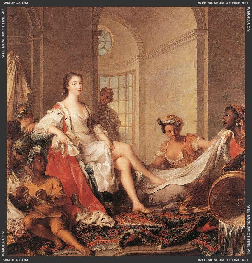 Mademoiselle de Clermont en Sultane 1733 by Nattier, Jean-Marc