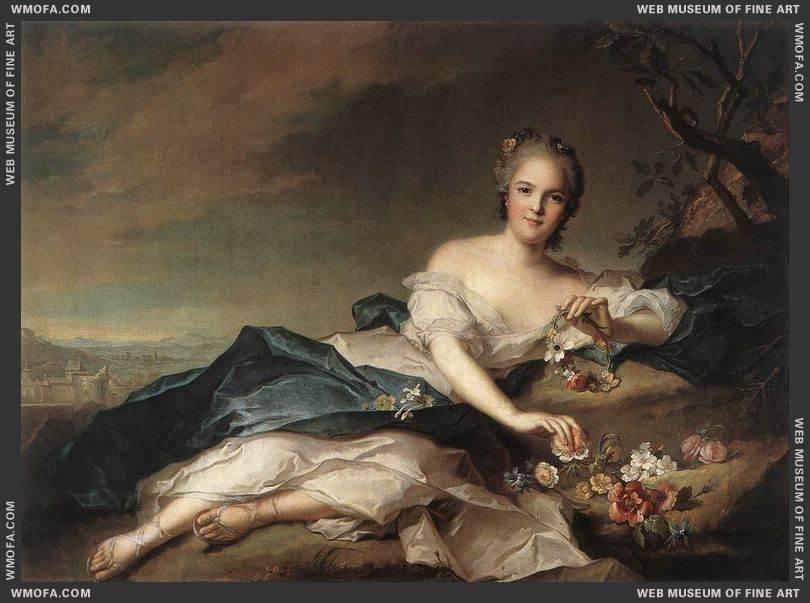 Marie Adelaide of France as Flora 1742 by Nattier, Jean-Marc