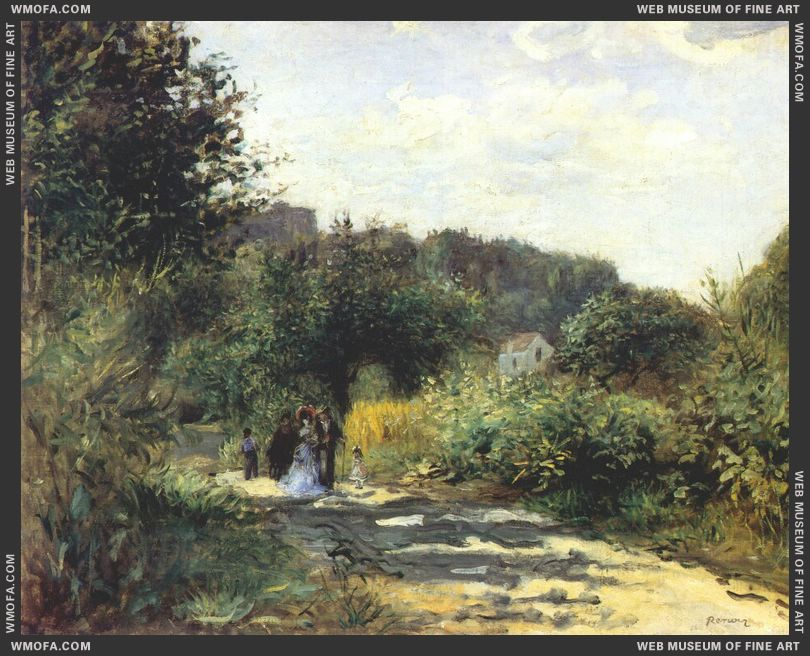 A Road in Louveciennes by Renoir, Pierre-Auguste