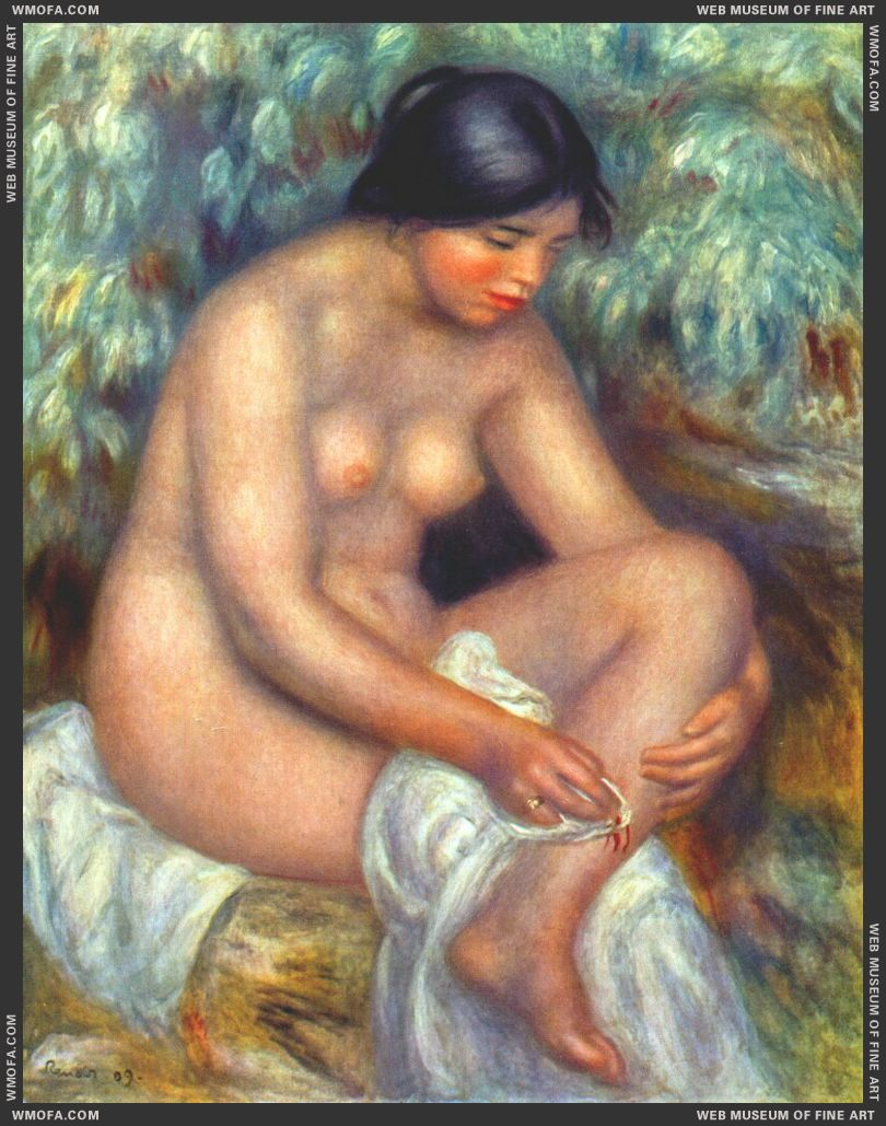 Bather Wiping a Wound by Renoir, Pierre-Auguste