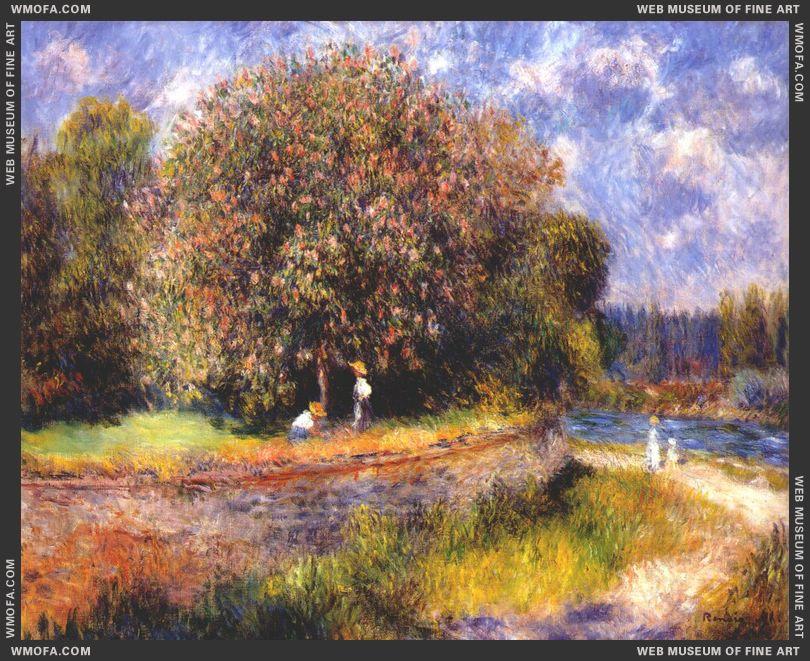 Chestnut Tree in Bloom by Renoir, Pierre-Auguste