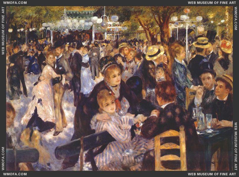 Le Moulin de la Galette 1876 by Renoir, Pierre-Auguste