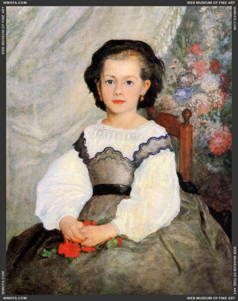 Little Miss Romaine Lacaux by Renoir, Pierre-Auguste