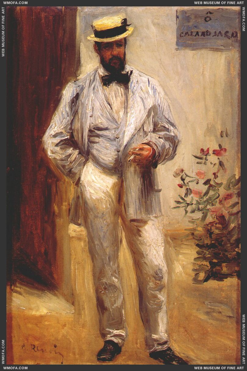 Portrait of Charles Le Coeur by Renoir, Pierre-Auguste