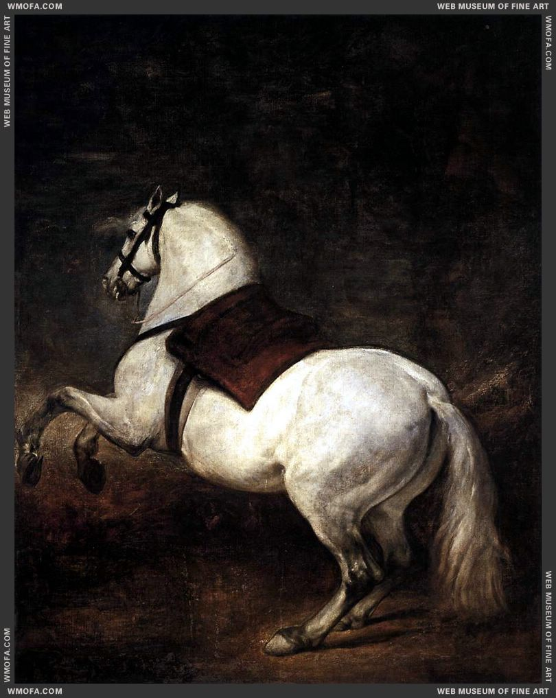 A White Horse 1634-1635 by Velazquez, Diego