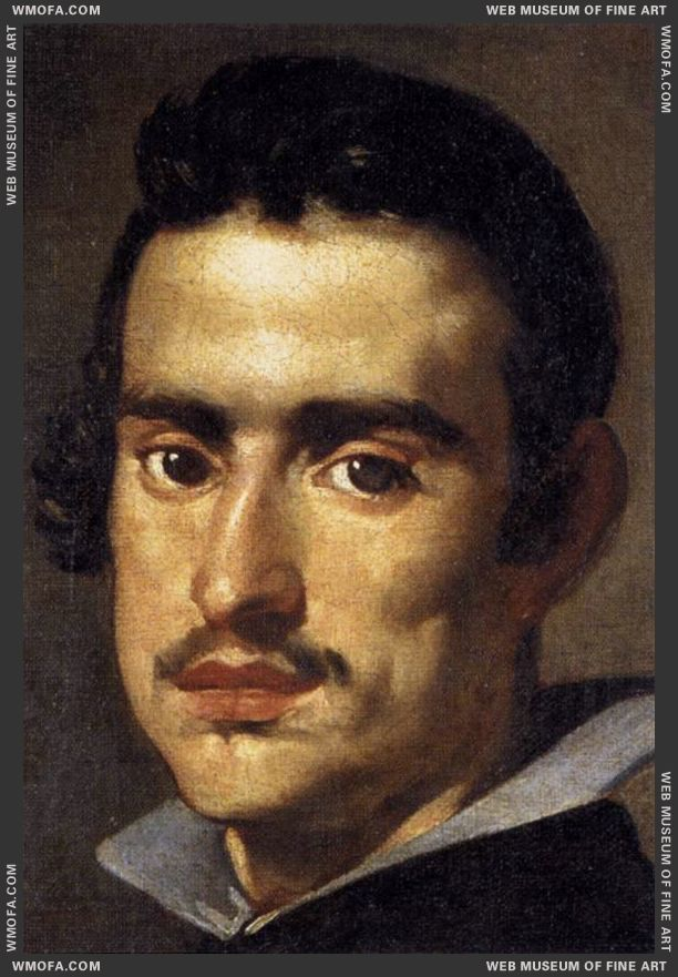 A Young Man - detail - 1623-1624 by Velazquez, Diego