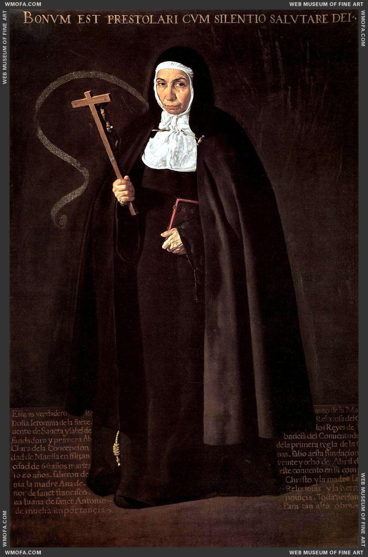 Abbess Jeronima de la Fuente 1620 by Velazquez, Diego