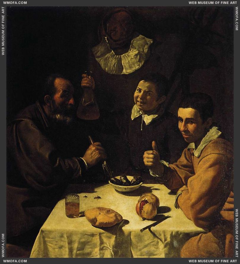 Breakfast c1618 by Velazquez, Diego