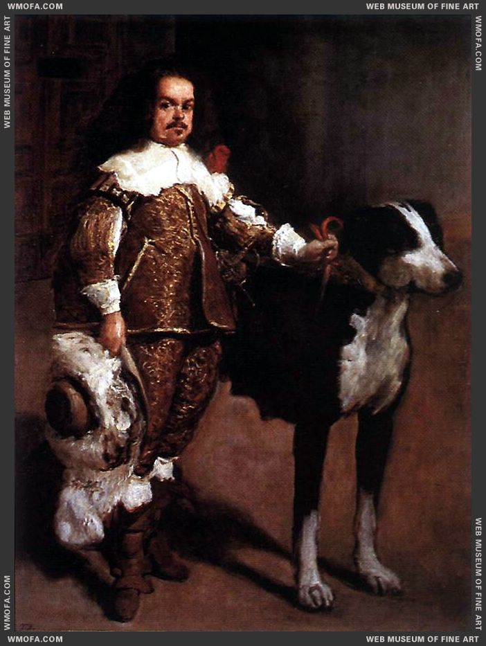 Court Dwarf Don Antonio el Ingles 1640-1642 by Velazquez, Diego
