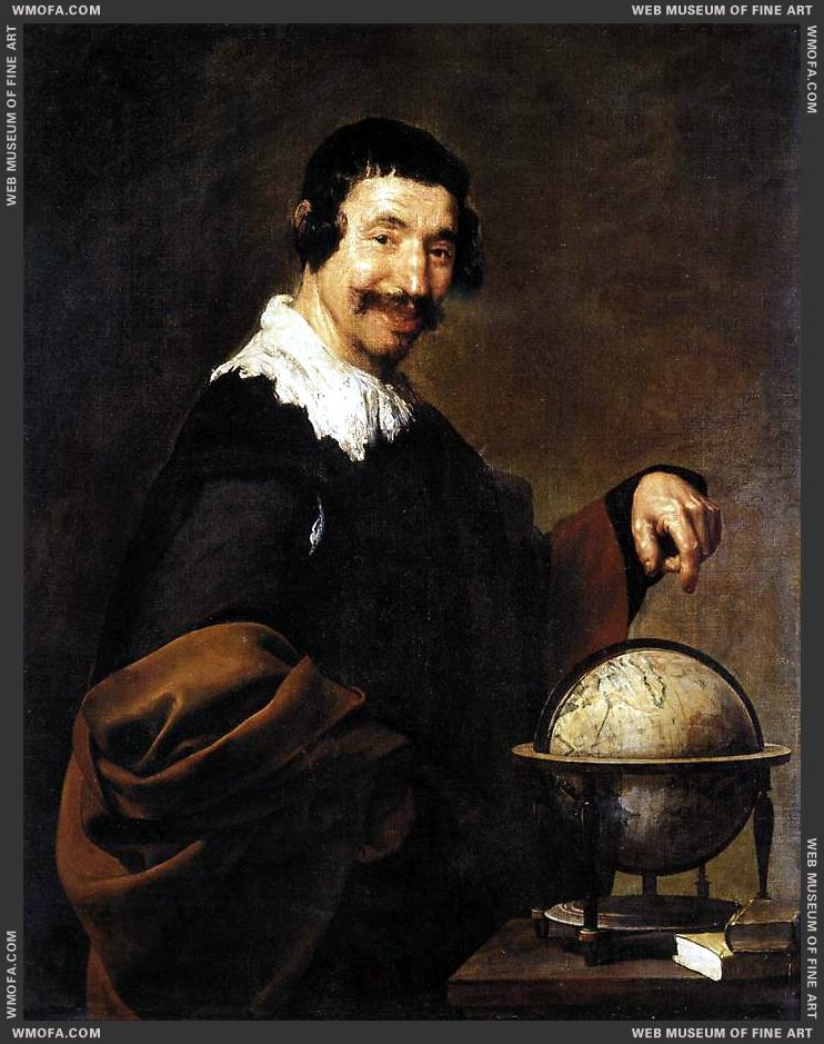 Democritus 1628-1629 by Velazquez, Diego