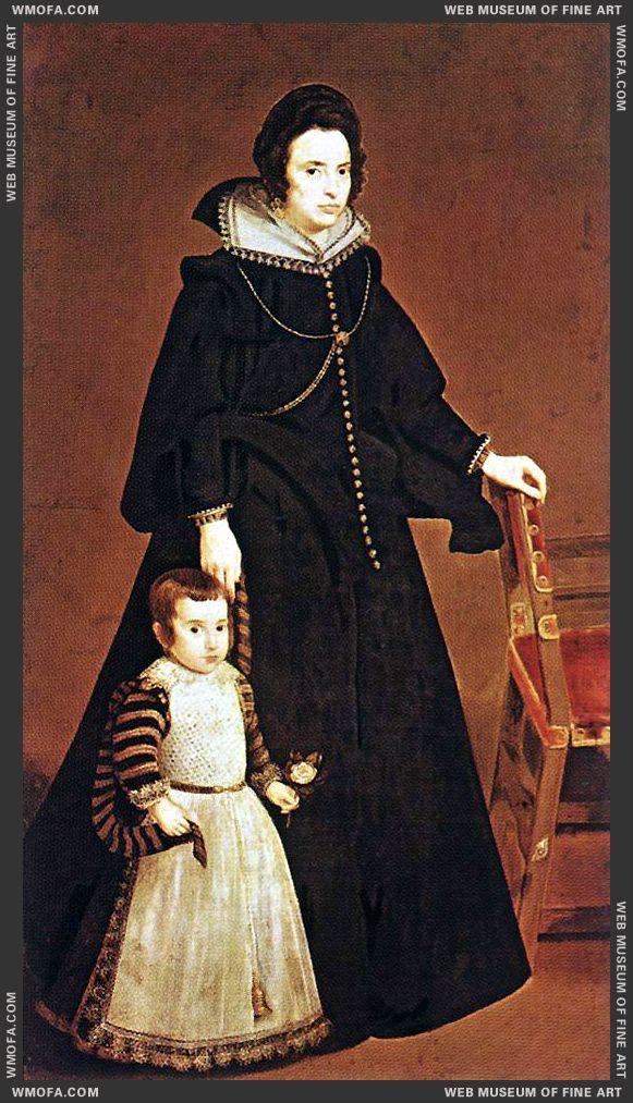 Dona Antonia de Ipenarrieta y Galdos and her Son Luis c1631 by Velazquez, Diego