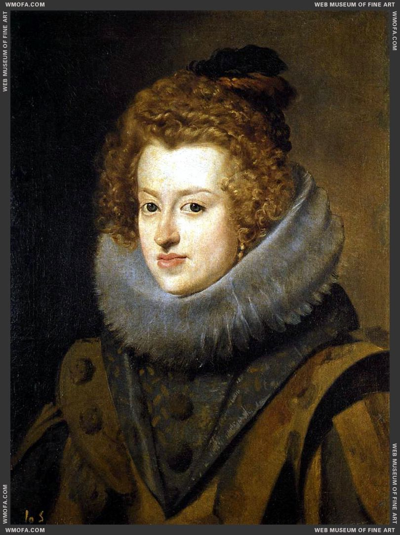 Infanta  Dona  Maria, Queen  of  Hungary  1630 by Velazquez, Diego