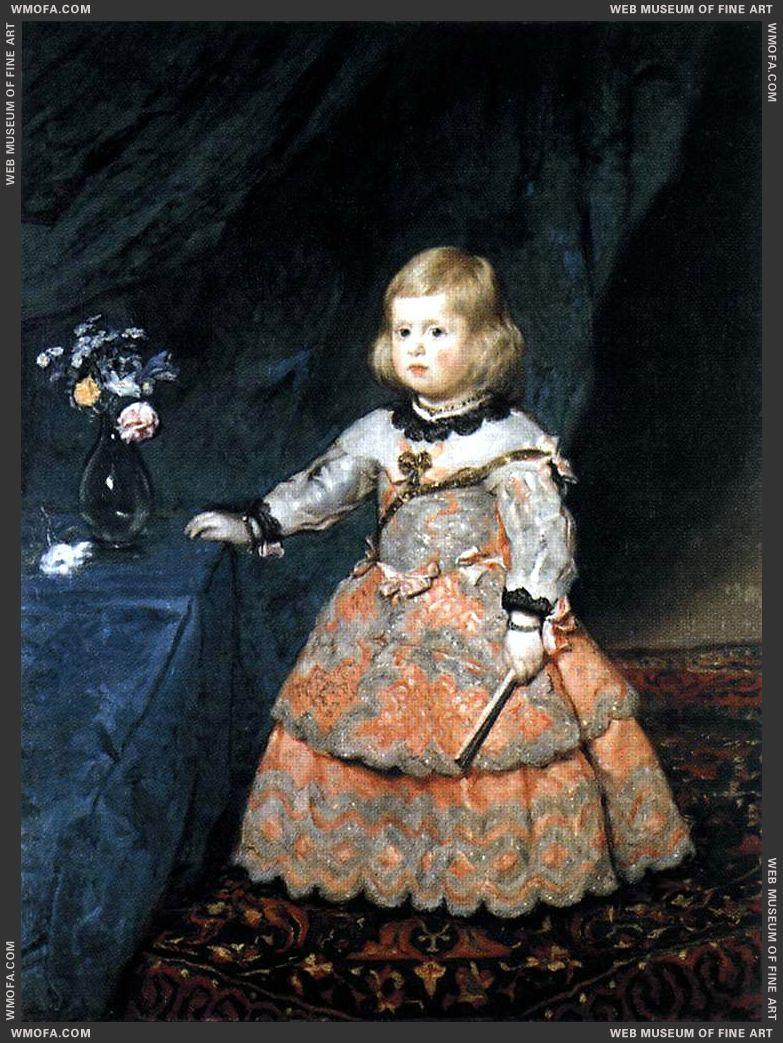 Infanta Margarita c1654 by Velazquez, Diego