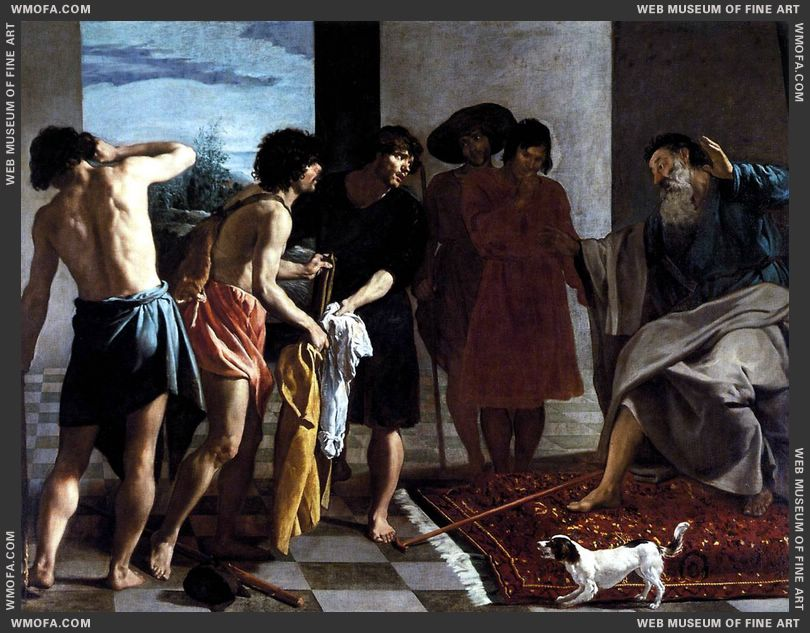 Josephs Bloody Coat Brought to Jacob 1630 by Velazquez, Diego