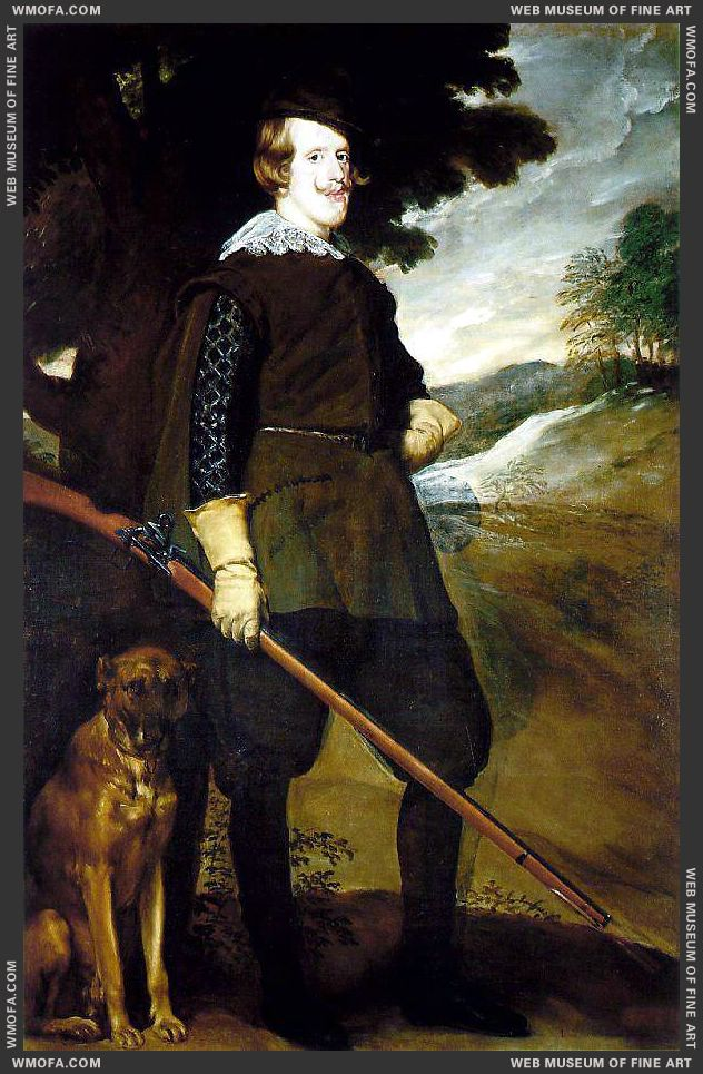 King Philip IV as a Huntsman 1634-1635 by Velazquez, Diego