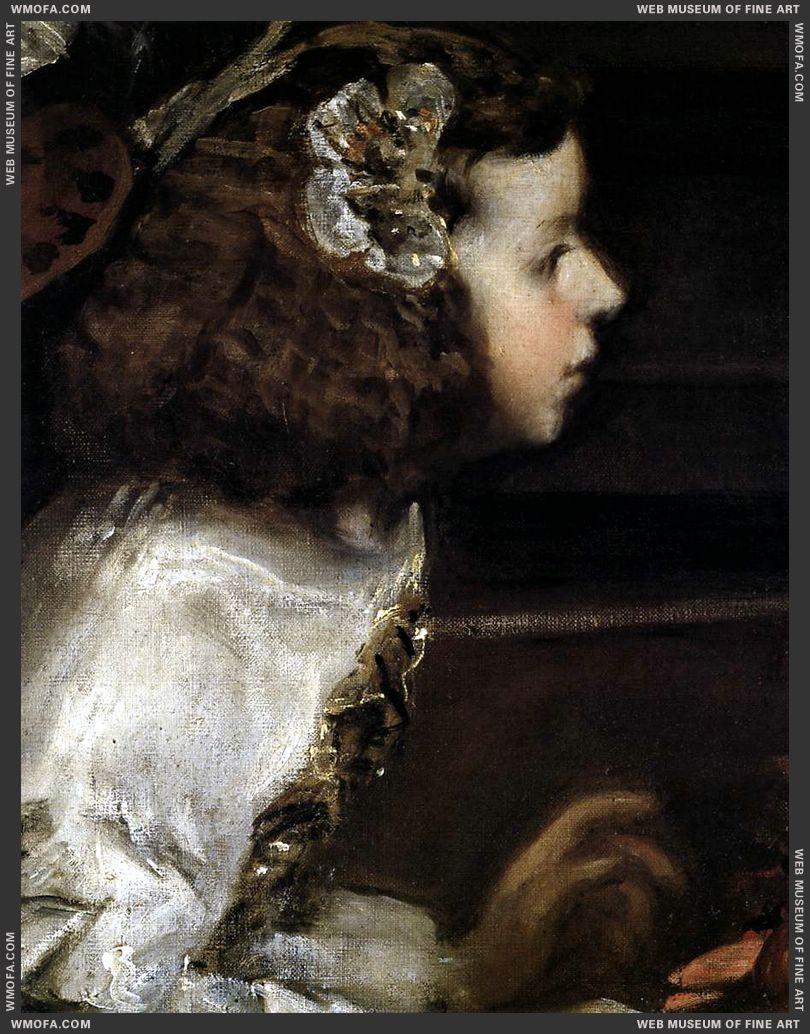 Las Meninas - detail The queens maid of honour, Dona Maria Agustina Sarmiento - 1656-1657 by Velazquez, Diego