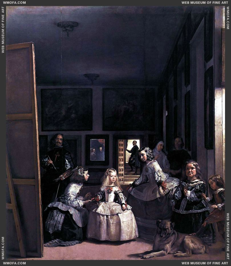Las Meninas or The Family of Philip IV 1656-1657 b by Velazquez, Diego