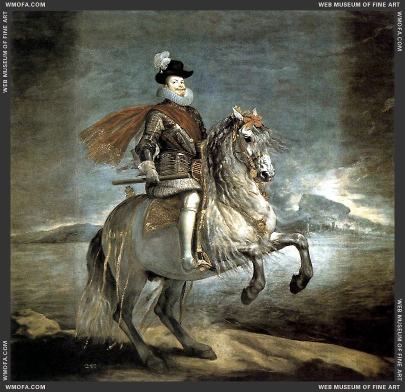 Philip III on Horseback 1634-1635 by Velazquez, Diego