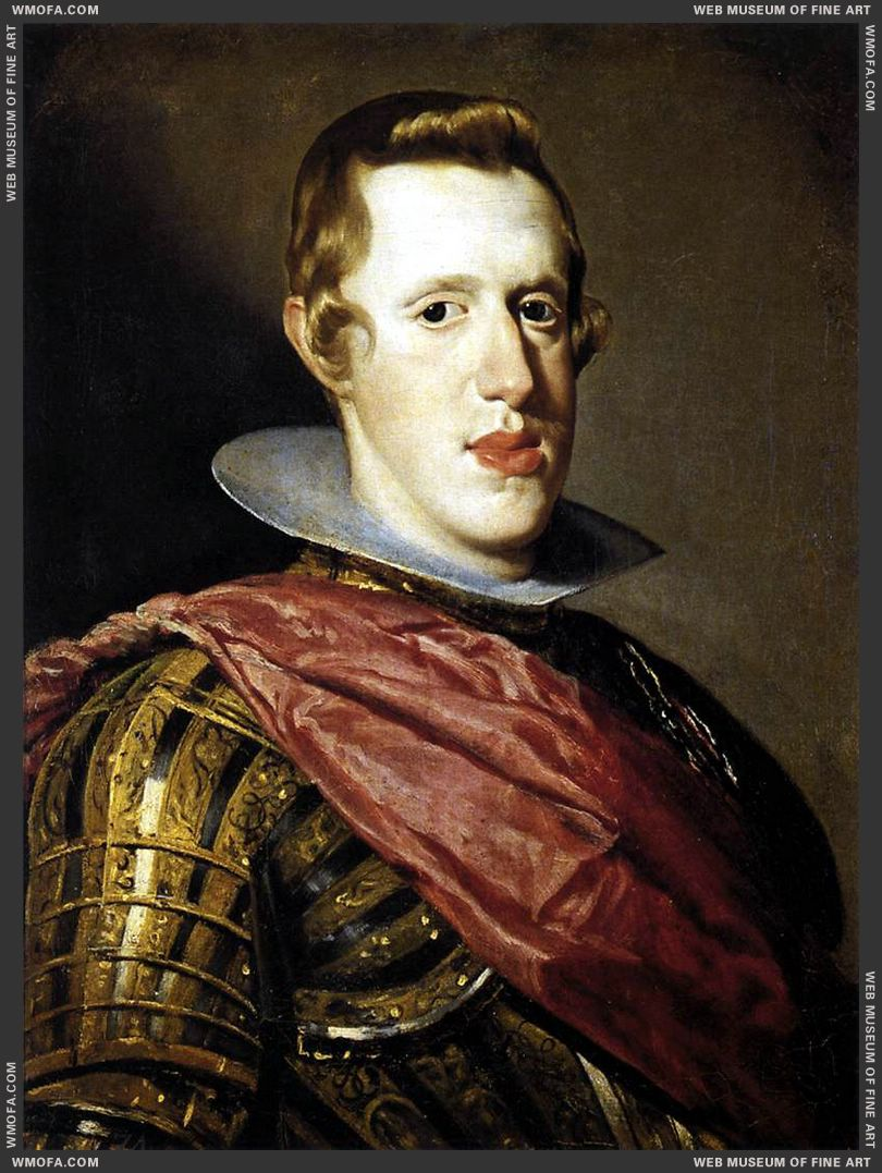 Philip IV in Armour c1628 by Velazquez, Diego