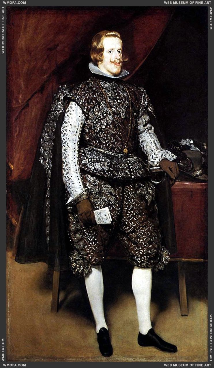 Philip IV in Brown and Silver 1631-1632 by Velazquez, Diego