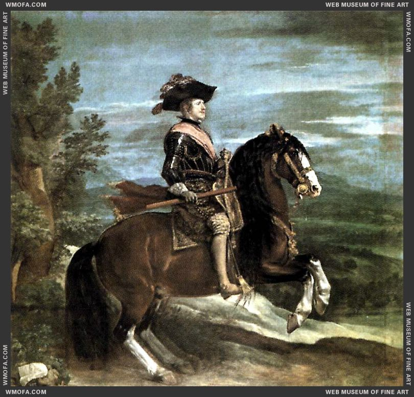 Philip IV on Horseback 1634-1635 by Velazquez, Diego